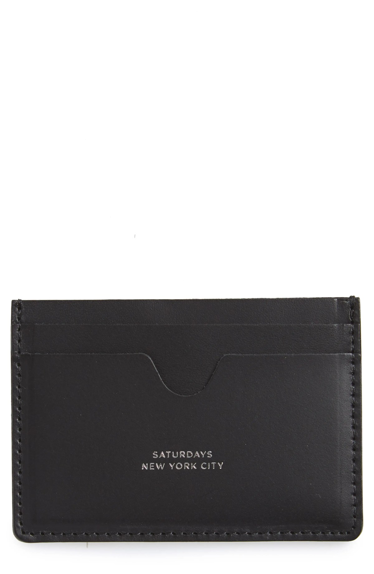 Ryan Leather Card Case, Main, color, BLACK