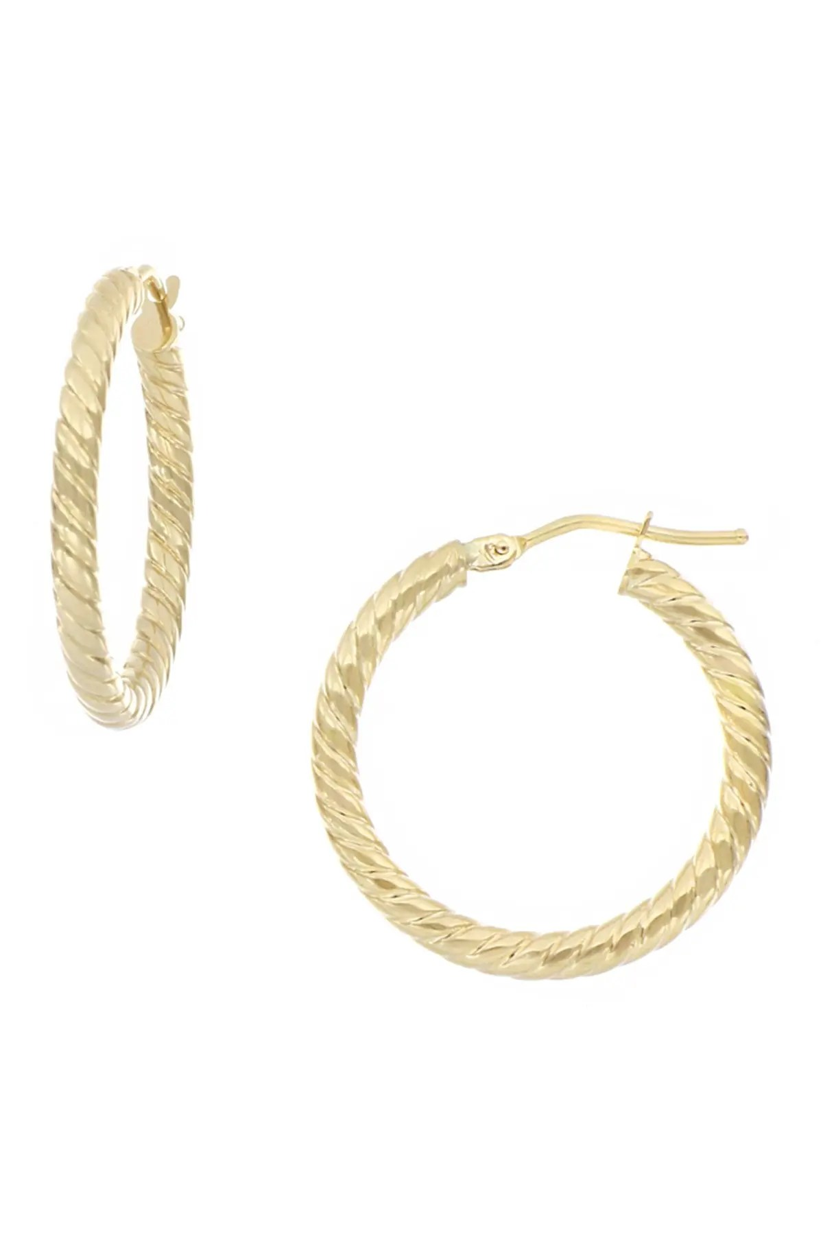 bony levy 14k yellow gold 20mm twisted hoop earrings nordstrom rack