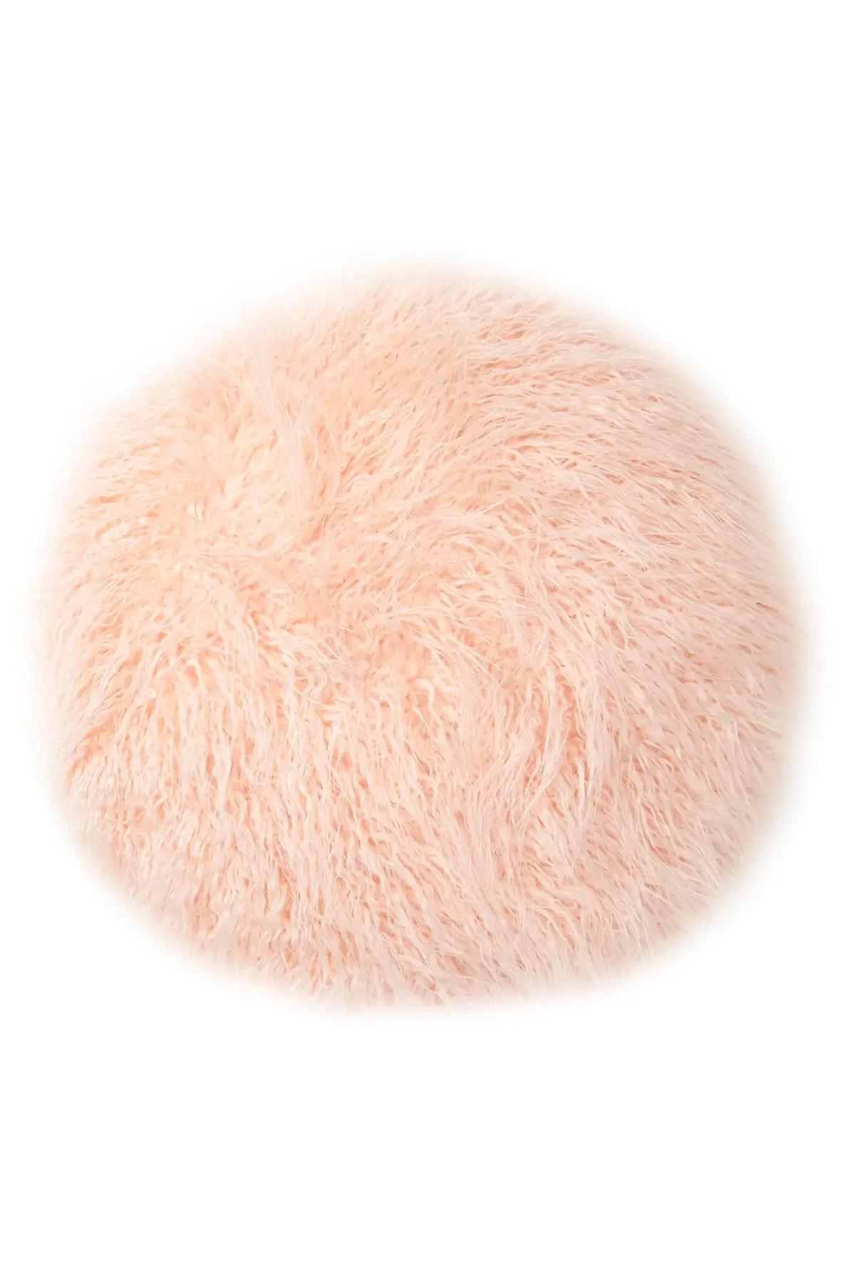 nordstrom rack flokati faux fur round