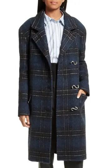 Women's Tibi Dominic Plaid Oversize Coat, $1150.0