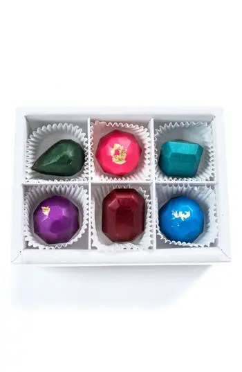 Chocolate Jewels 6-Piece Chocolate Set MAGGIE LOUISE CONFECTIONS