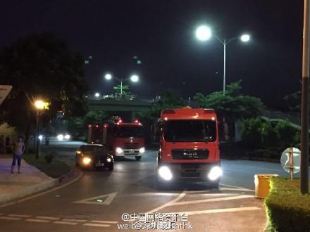 深圳富士康廠區發生火災 無人傷亡