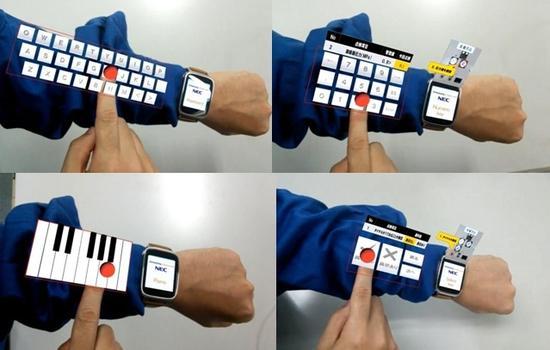 NEC的腦洞:用谷歌眼鏡解決智能手錶輸入問題