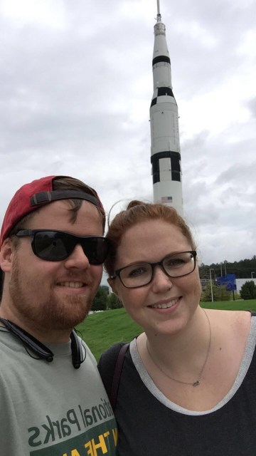Checking out the Space & Rocket Center