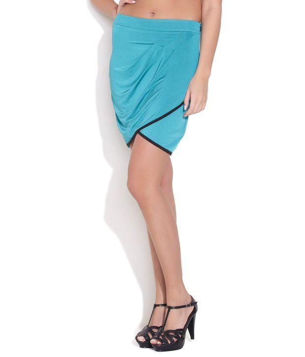 Avirate Blue Cotton Skirt