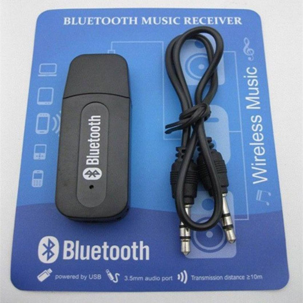 Car Bluetooth Music Receiver Usb Audio 35mm Aux Stereo Wireless H166 Pair With System