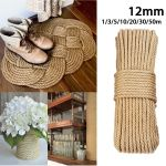 Kiwarm 12mm 1 50m Jute Ropes Twine Rope Natural Hemp Cord Home Decor Cat Pet Scratching Home Art Decor Buy Online At Best Price In India Snapdeal