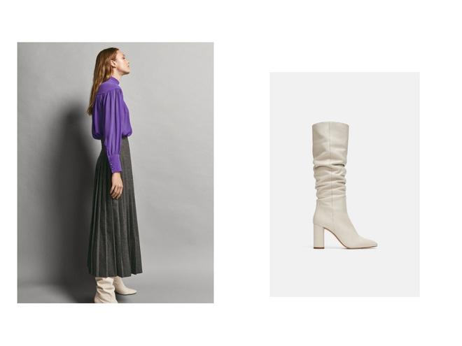 Как сочетать длину юбок с зимней обувью (фото 4)