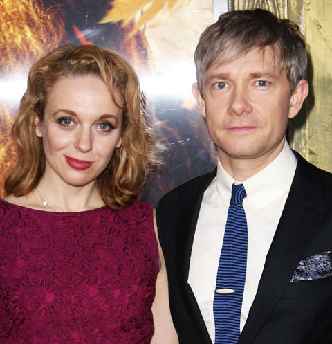 Amanda Abbington and Martin Freman