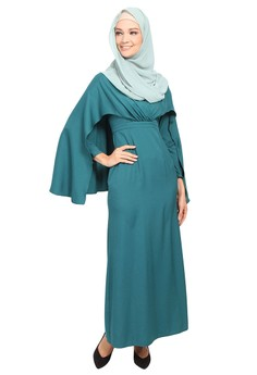 Poplook  CURVE Veda Drape Cape Maxi Dress