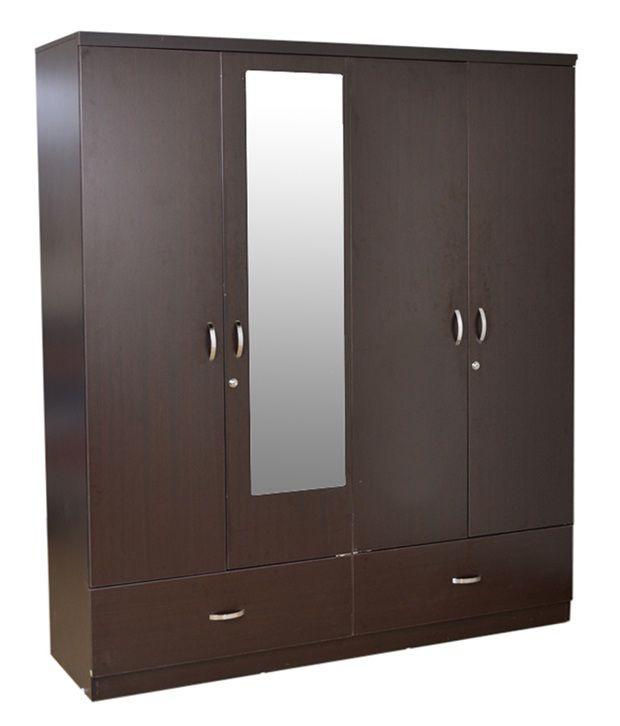 Hometown Utsav 4 Door Wardrobe With Mirror Buy Online At
