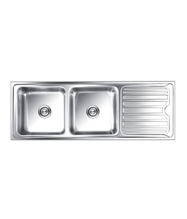 buy nirali kitchen sink double bowl