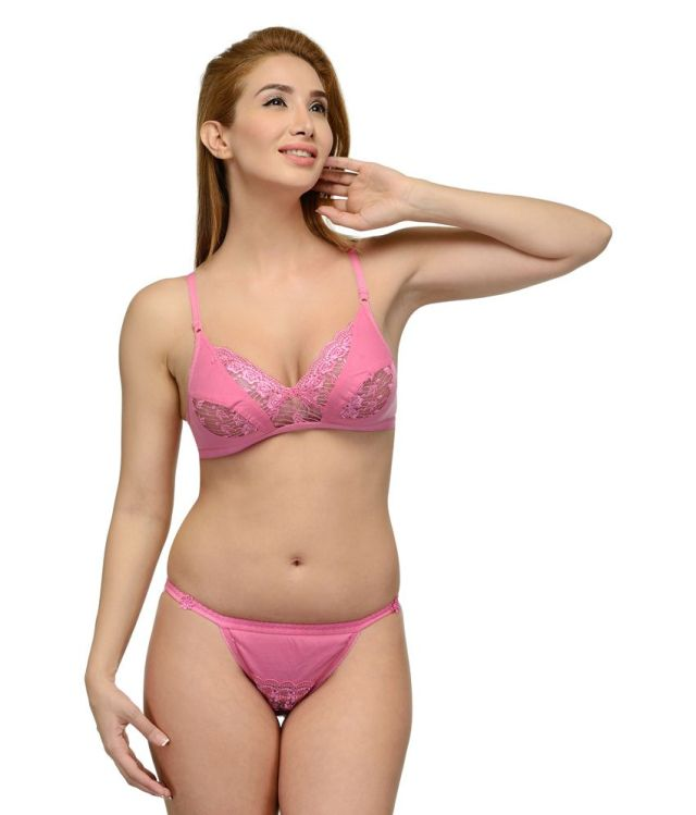 Buy Girls Care Pink Cotton Bra Panty Sets Online At Best Prices In India Snapdeal