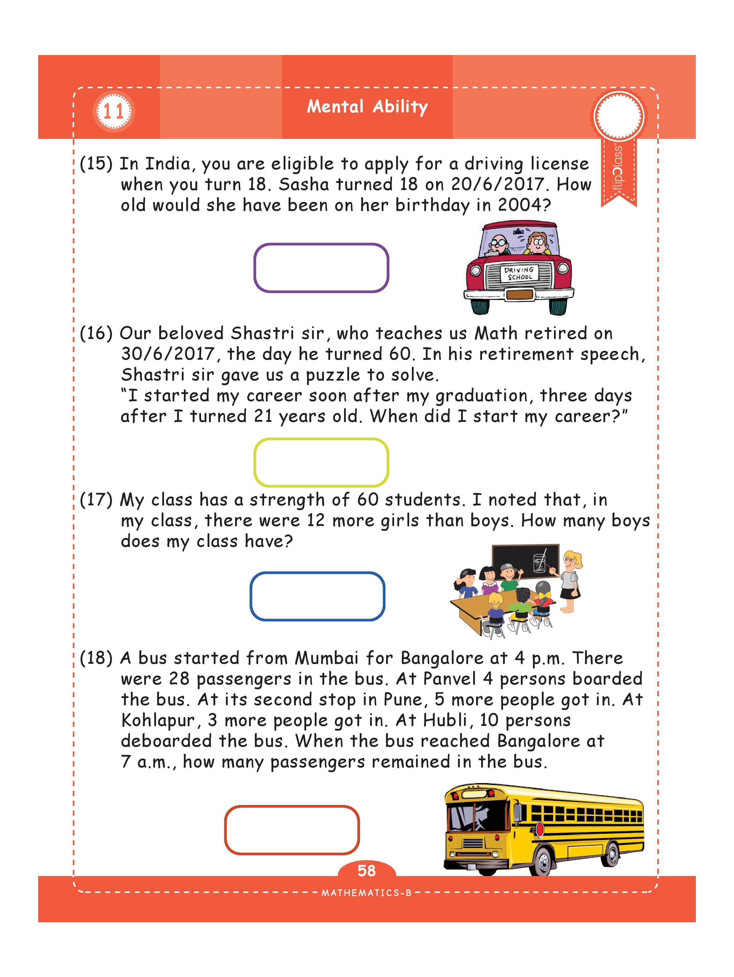 Genius Kids Worksheets Bundle For Class 4 Grade 4