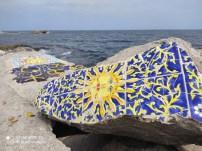 فسيفساء على صخور شاطئ المنستير 6