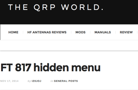 The QRP World
