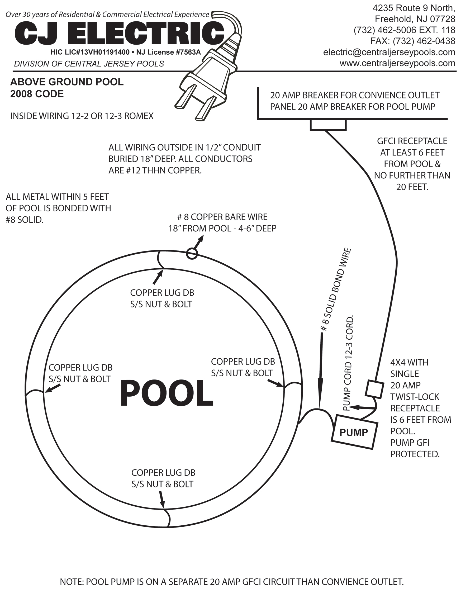 Swimming Pool Electrical Wiring Diagram
