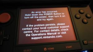 3DS: Errore nelle Console Europee