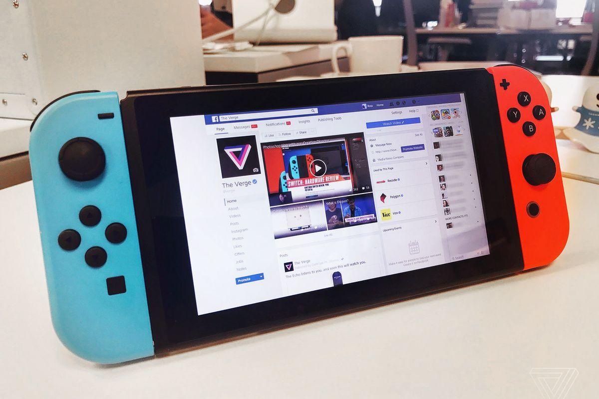È Possibile Navigare su Facebook con Nintendo Switch