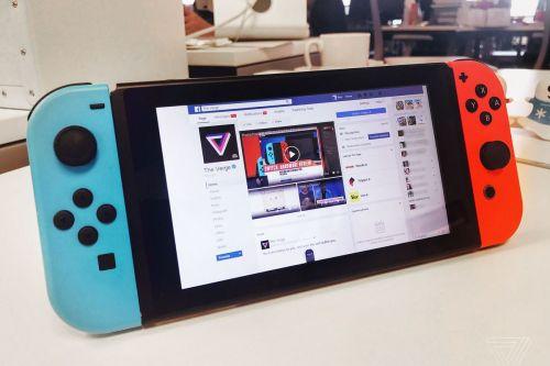 Navigare su Facebook con Nintendo Swich