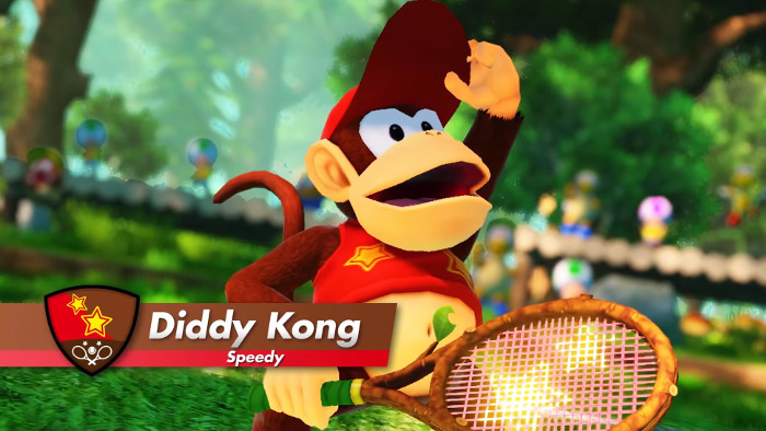 Diddy Kong si Unisce ai Personaggi di Mario Tennis Aces