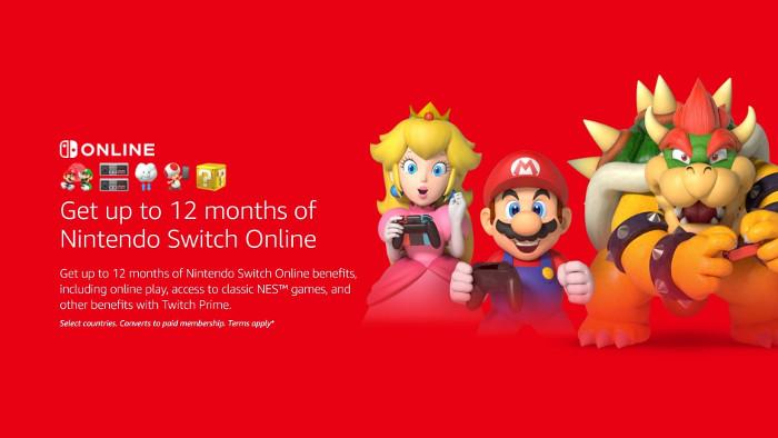 Un Anno di Nintendo Switch Online con Twitch Prime