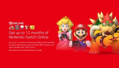 Nintendo Switch Online con Twitch Prime