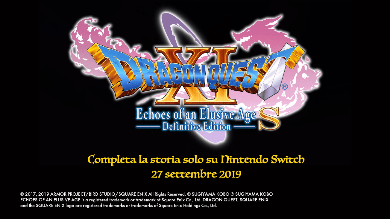 Data di Uscita di Dragon Quest XI S: Echoes of an Elusive Age – Definitive Edition