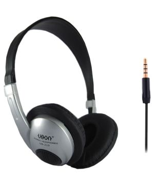 Ubon 210 Over Ear Wired Headphone Without Mic Grey  Buy Ubon 210 Over Ear Wired Headphone