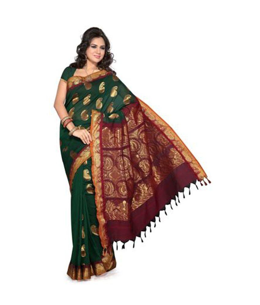 ISHIN Prints Multicoloured Cotton Saree Buy ISHIN Prints