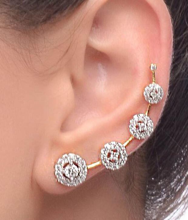 Renaissance Traders American Diamond Designer Gold Plated