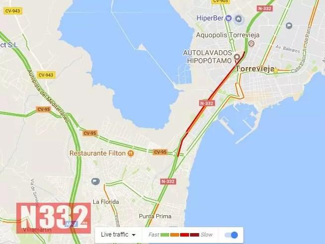 Traffic Map N332 Es Driving In Spain