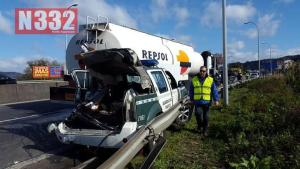 Guardia Civil Car involved in a seriously traffic accident