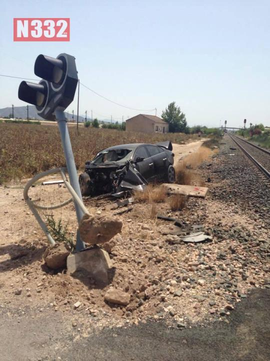 Wednesday - Car Driver Injured in Train Crossing Crash 2