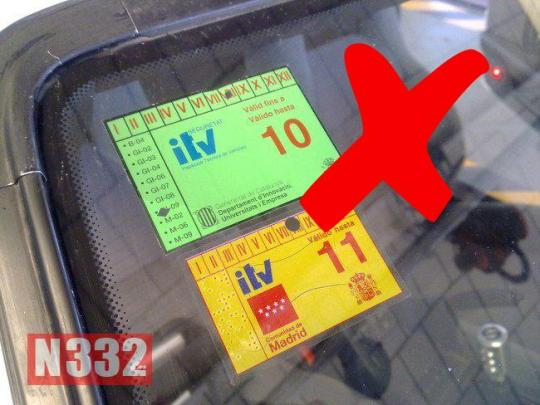 ITV Sticker Colours and Placement | | N332 es - Driving In Spain