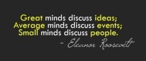 grandes mentes discuten ideas