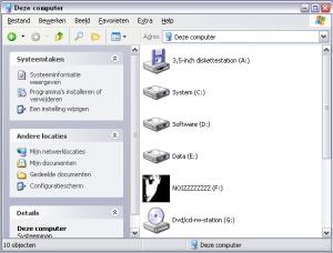 Windows file manager screenshot
