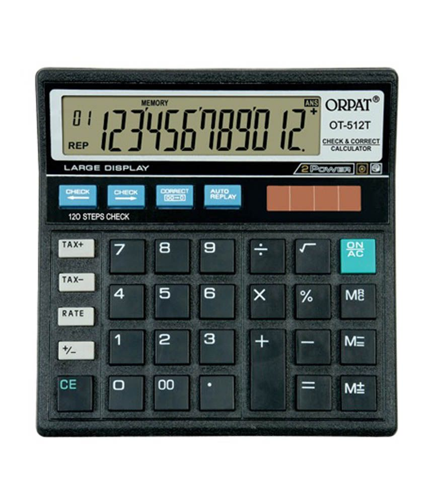 Orpat Ot 512t Check And Correct Calculator - 2 Pieces