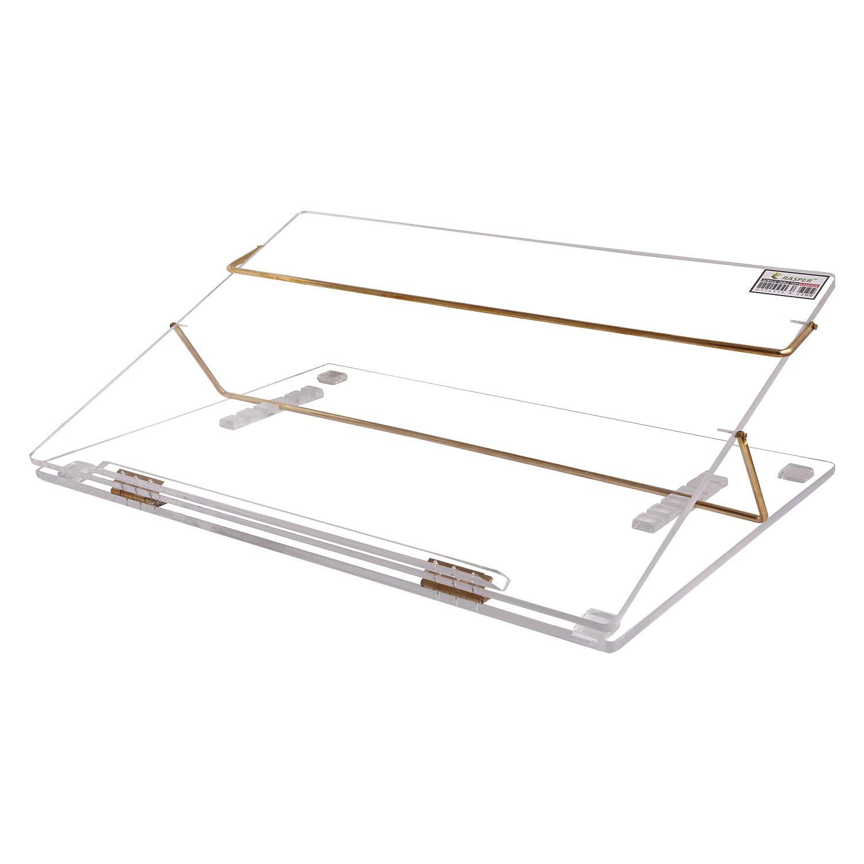Rasper Clear Acrylic Writing Desk Standard Size 21x15 Premium Quality With 1 Year Warranty