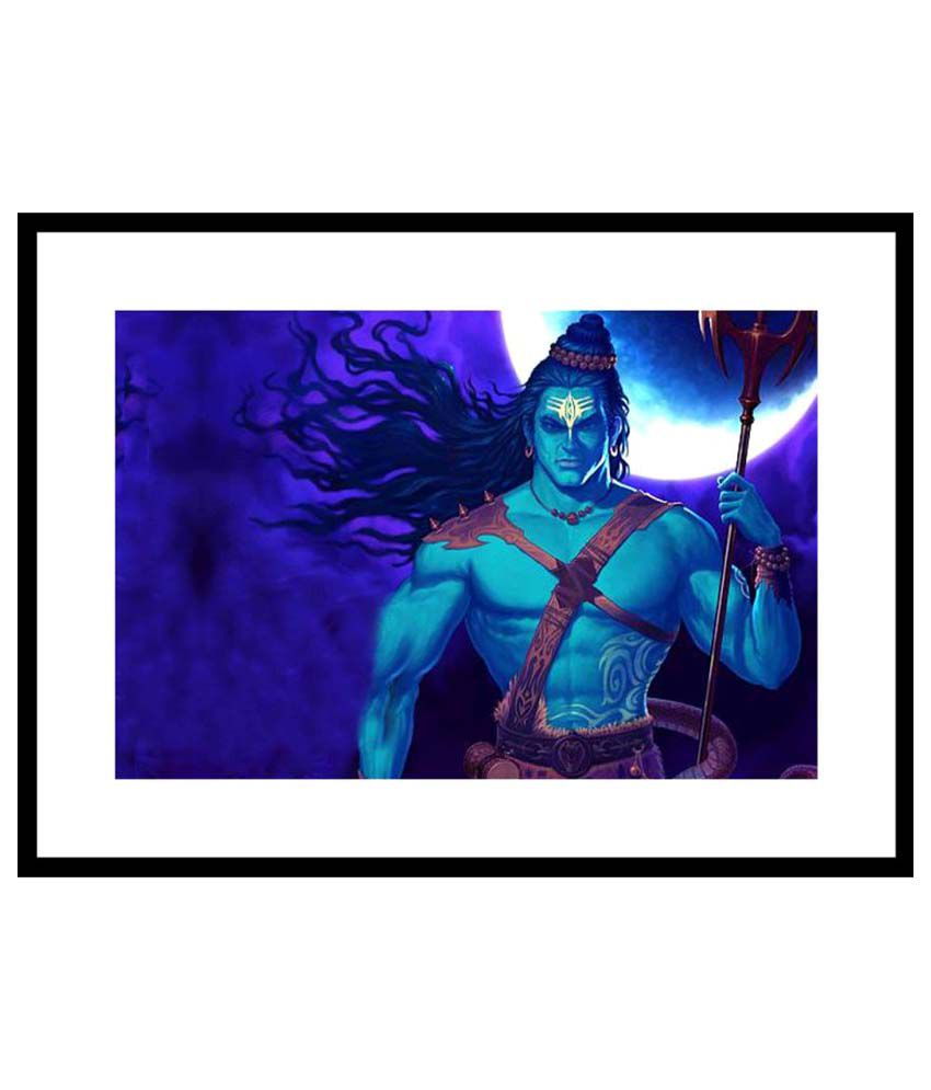 Myimage Lord Shiva Animated Paper Wall Poster With Frame Single Piece Buy Myimage Lord Shiva Animated Paper Wall Poster With Frame Single Piece At Best Price In India On Snapdeal