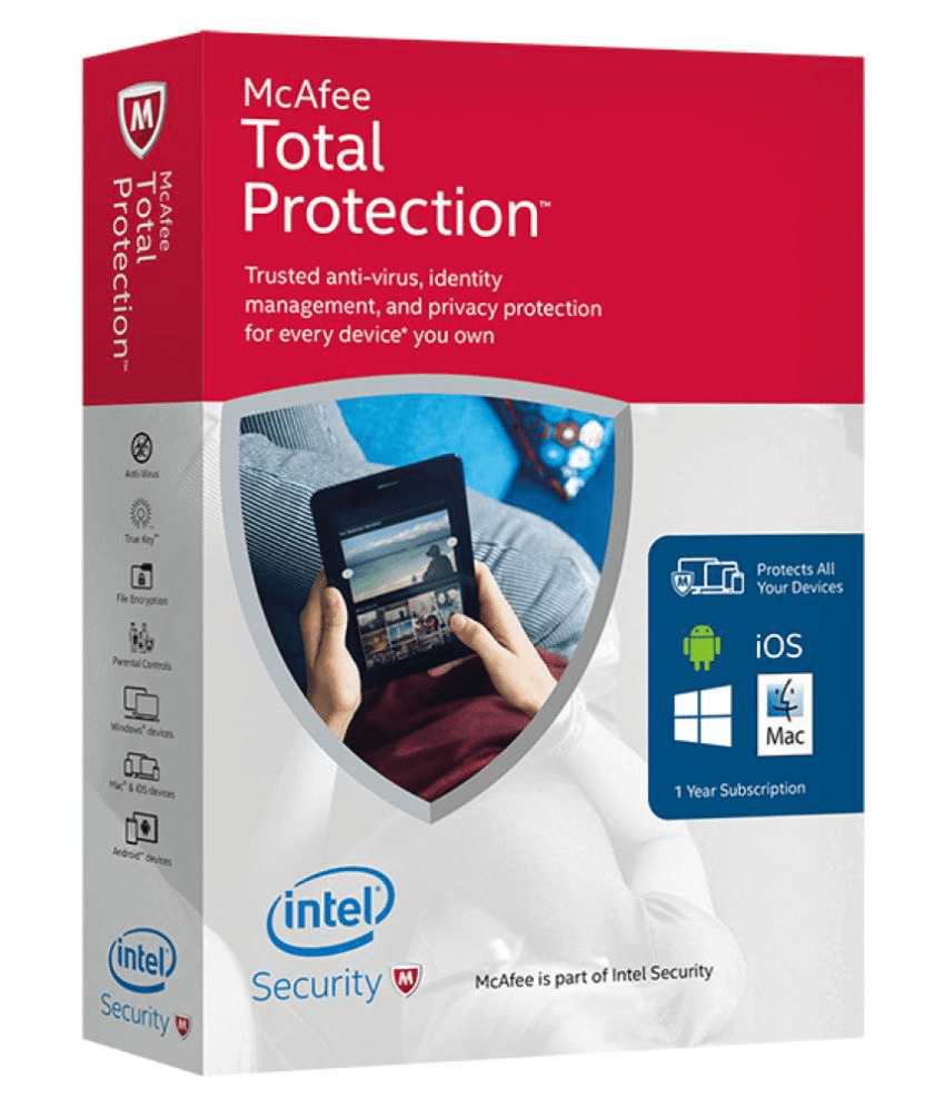 McAfee Total Security Latest Version ( 1 PC / 1 Year ) - CD
