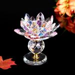 New Glass Crystal Lotus Tealight Candle Holder Candlestick Buddhist Home Decor Buy New Glass Crystal Lotus Tealight Candle Holder Candlestick Buddhist Home Decor At Best Price In India On Snapdeal