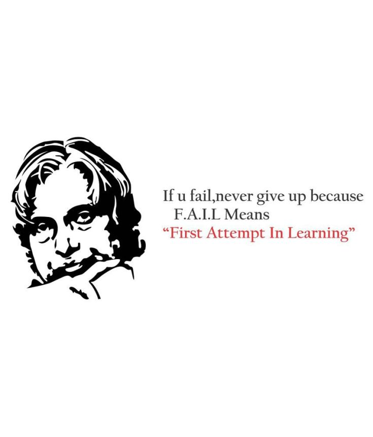 Wallmatrix Dr.Apj Abdul Kalam Quotes Sticker ( 110 x 50 cms ) - Buy  Wallmatrix Dr.Apj Abdul Kalam Quotes Sticker ( 110 x 50 cms ) Online at  Best Prices in India on Snapdeal