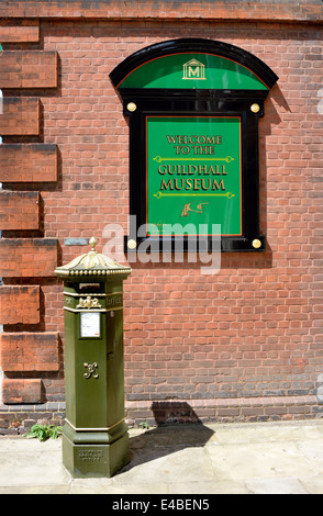 Green Victorian Letter Post Box Outside Watton Mount Powys