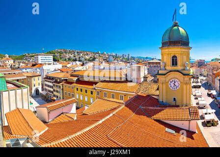 City Of Rijeka Waterfront Rooftops View Kvarner Bay Of