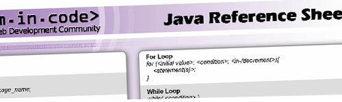 Hojas de referencia rápida de programación: Java, Php, Visual .Net, C++, C# y ColdFusion