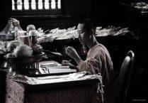 Thai Buddhist Monk Studying