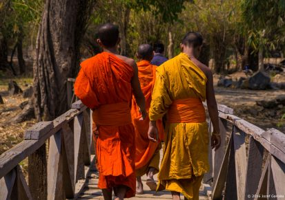 Three Buddhist Monks