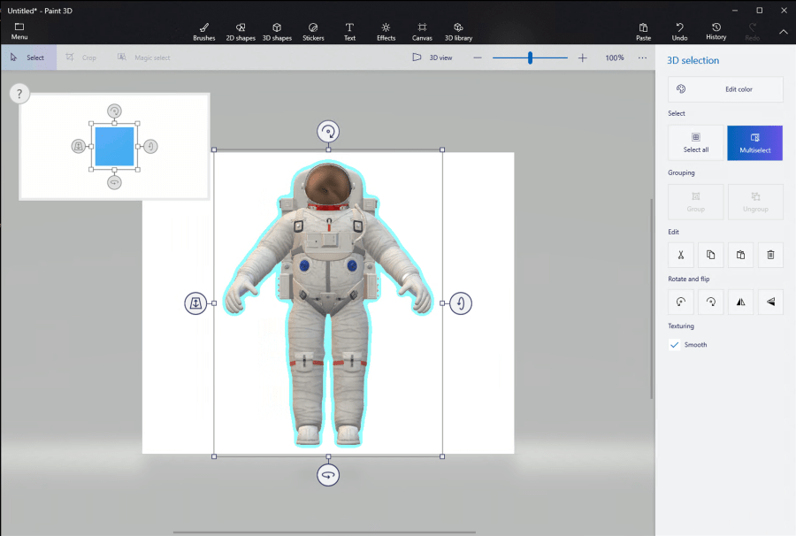 Use paint 3D to create a new model