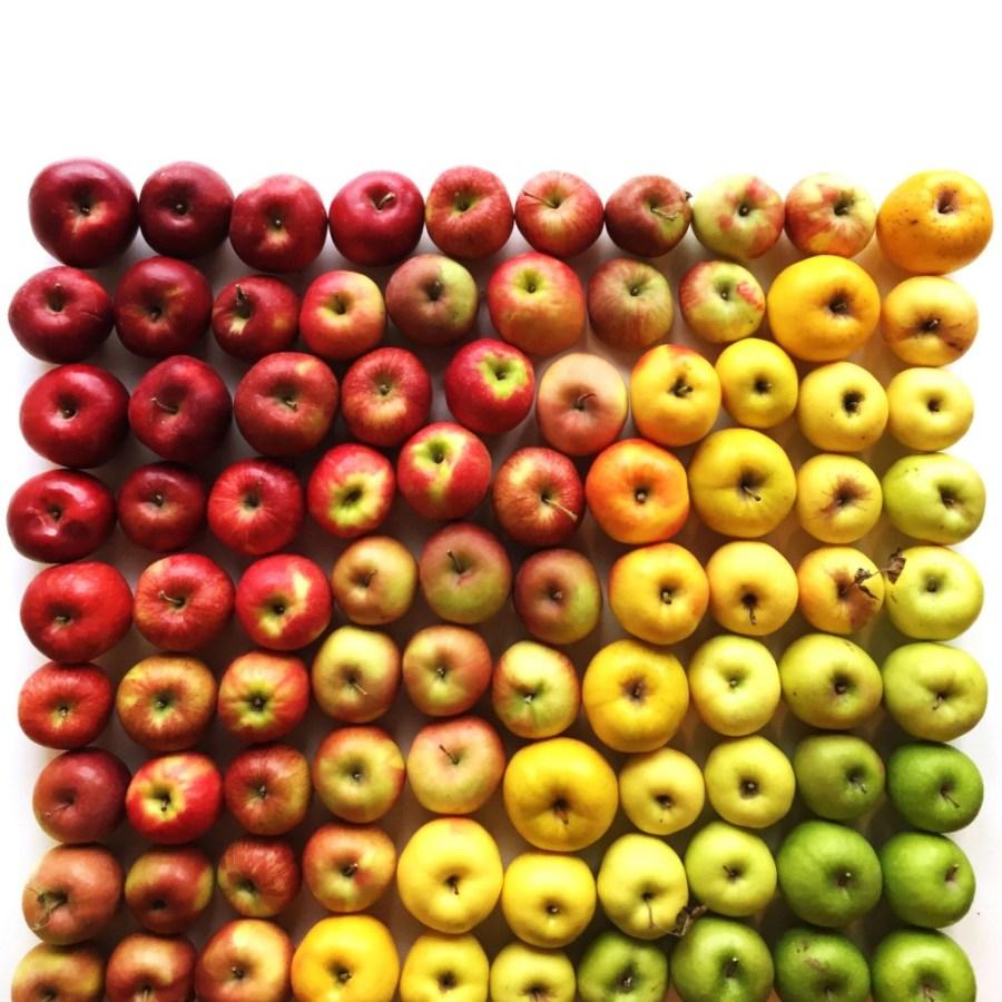 Градиент из яблок